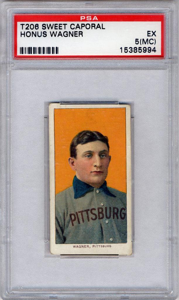 """""""Jumbo"""" T206 Honus Wagner baseball card"""