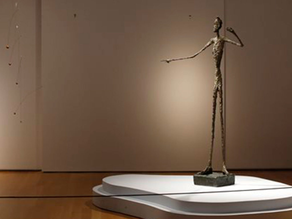 Alberto Giacometti's L'Homme au doigt sculpture