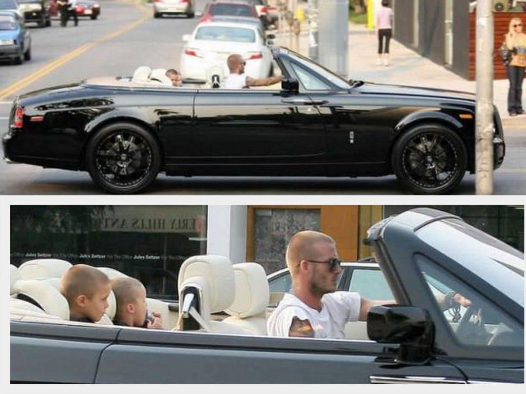 David Beckam – Rolls Royce Phantom Drophead Coupe