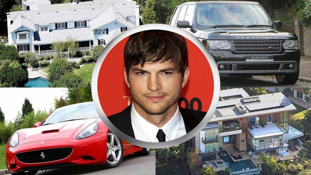 Ashton Kutcher - Ferrari California